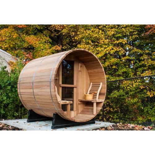 Sauna da esterno a forma di barile AF-001B