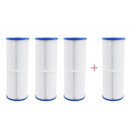 Confezione 4x3 filtri lungo per vasca idromassaggio
