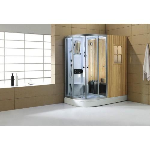 Sauna a secco + umido sauna con doccia-001