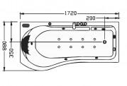Vasca idromassaggio jacuzzi AT-001-2