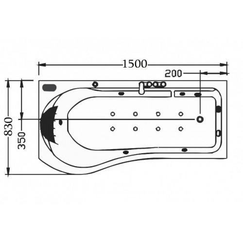 Vasca idromassaggio jacuzzi AT-001-1