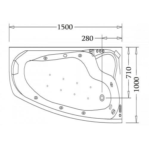 Vasca idromassaggio jacuzzi AT-002