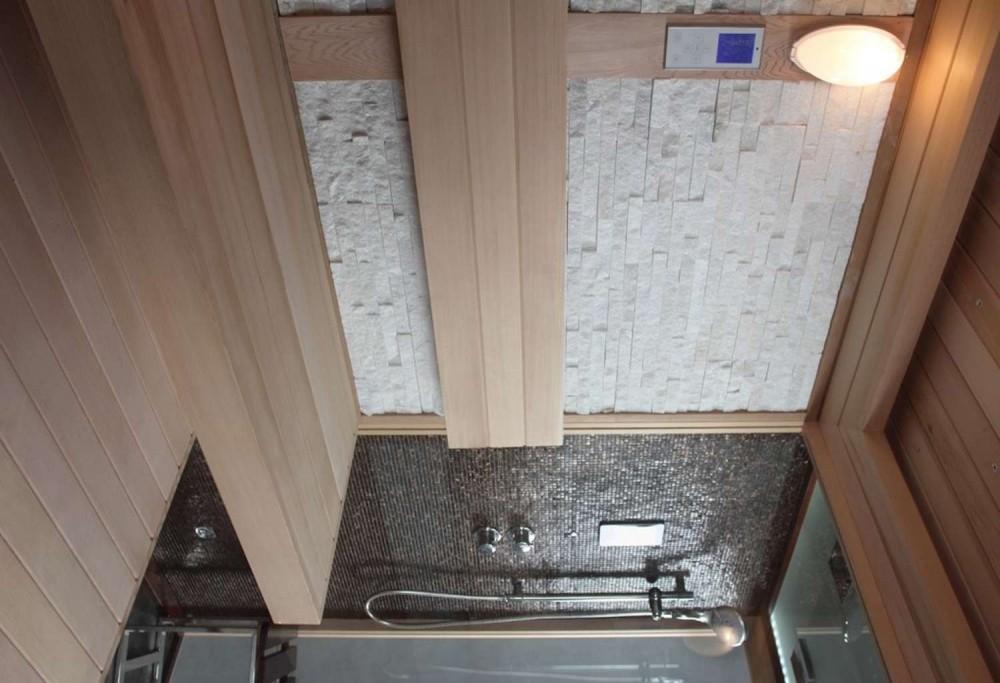 Sauna Finlandese E Bagno Turco Con Doccia AT 002A