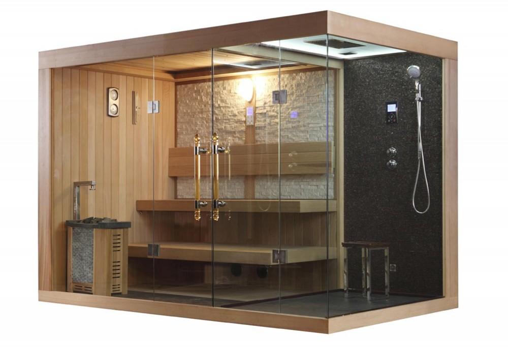 Sauna Finlandese E Bagno Turco Con Doccia AT 002D