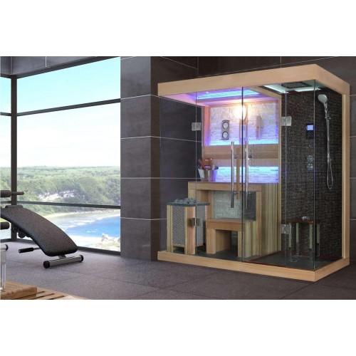 Sauna finlandese e bagno turco con doccia AT-001B!