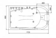 Vasca idromassaggio jacuzzi AT-020-3