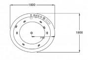 Vasca idromassaggio jacuzzi AT-024-2