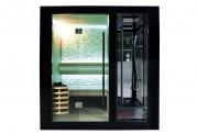 Sauna a secco + sauna umida con doccia AU-001B
